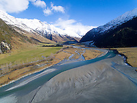 Matukituki River,  Mount Aspiring National Park, New Zealand