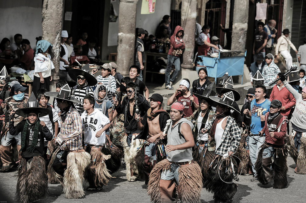 Inti Raymi festival of the sun, every June solstice in Cotacachi, Ecuador