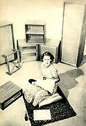 German post-war utility furniture in a German home c1949.