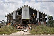Chruch in New Orleans destoryed by Hurricane Katriana