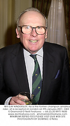 MR GAY KINDERSLEY, he is the former champion amateur rider, at a reception in London on 9th January 2001.OKH 12