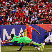 Chile Attacker EDUARDO VARGAS (11) kicks the ball  past Panama Keeper JAIME PENEDO (1) scoring in the 15th minute of the first half of a Copa America Centenario Group D match between the Chile and Panama Tuesday, June. 14, 2016 at Lincoln Financial Field in Philadelphia, PA.