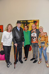 Nikki Caine, her father Sir Michael Caine, Lady Caine, Lincoln Townley and Denise Welch at the START Art Fair - Preview Evening held at the Saatchi Gallery, Duke of York's HQ, King's Road, London on 25th September 2019.