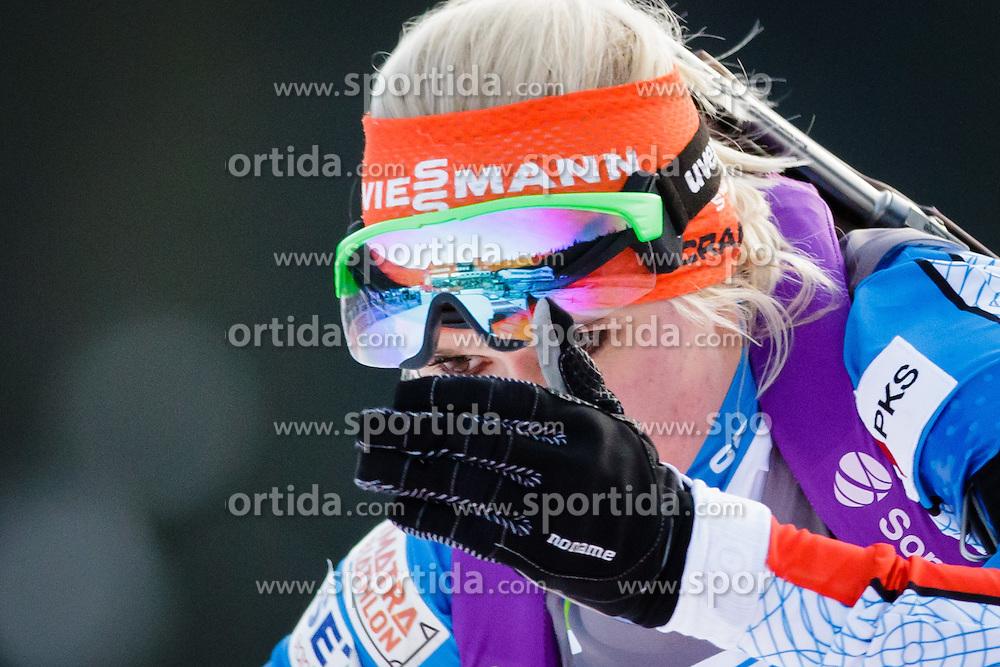 Mari Laukkanen (FIN) during Women 7,5 km Sprint at day 2 of IBU Biathlon World Cup 2015/16 Pokljuka, on December 18, 2015 in Rudno polje, Pokljuka, Slovenia. Photo by Ziga Zupan / Sportida