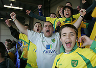 Tranmere - Friday, April 2nd, 2010: Norwich City fans before the match against Tranmere Rovers during the Coca Cola League One match at Prenton Park, Tranmere. (Pic by Michael Sedgwick/Focus Images)