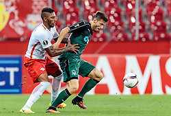 15.09.2016, Red Bull Arena, Salzburg, AUT, UEFA EL, FC Red Bull Salzburg vs FC Krasnodar, Gruppe I, 1. Runde, im Bild Paulo Miranda (FC Red Bull Salzburg), Fedor Smolov (FC Krasnodar) // during the UEFA Europa League, group I, 1st round match between FC Red Bull Salzburg and FC Krasnodar at the Red Bull Arena in Salzburg, Austria on 2016/09/15. EXPA Pictures © 2016, PhotoCredit: EXPA/ JFK