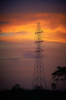 High-Voltage Transmission Tower at Dusk. Trinidad Caroni Bird Sanctuary. Port of Spain, Trinidad. Image taken with a Nikon D3s and 70-300 mm VR lens (ISO 640, 165 mm, f/5, 1/125 sec).