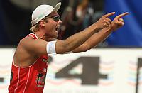 Volleyball Sandvolleyball Beachvolleyball<br />Swatch FIVB World Tour Conoco Phillips Grand Slam<br />Stavanger 260608<br />Foto: Sigbjørn Andreas Hofsmo, Digitalsport<br /><br />Tarjei Skarlund