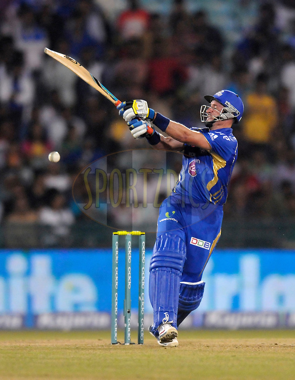 Michael Hussey of Mumbai Indians bats during the qualifier 4 match of the Oppo Champions League Twenty20 between the Mumbai Indians and the Southern Express held at the Chhattisgarh International Cricket Stadium, Raipur, India on the 14th September 2014<br /> <br /> Photo by:  Pal Pillai / Sportzpics/ CLT20<br /> <br /> <br /> Image use is subject to the terms and conditions as laid out by the BCCI/ CLT20.  The terms and conditions can be downloaded here:<br /> <br /> http://sportzpics.photoshelter.com/gallery/CLT20-Image-Terms-and-Conditions-2014/G0000IfNJn535VPU/C0000QhhKadWcjYs