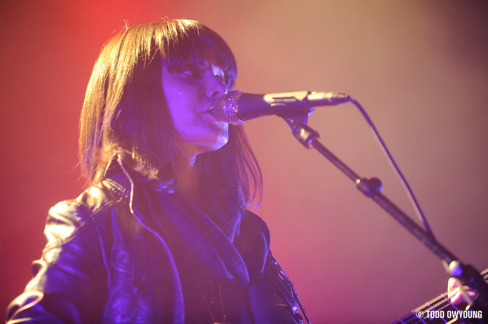 Photos of the band School of Seven Bells performing in support of Interpol on February 11, 2011 at the Pageant in St. Louis.