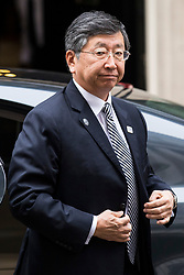 © Licensed to London News Pictures. 08/02/2018. London, UK. Koji Tsuruoka, Japanese Ambassador to the UK, arrives at 10 Downing Street for a roundtable discussion with Prime Minister Theresa May, The Chancellor of The Exchequer Philip Hammond and select Cabinet Ministers on Japanese business and Brexit. Photo credit: Rob Pinney/LNP