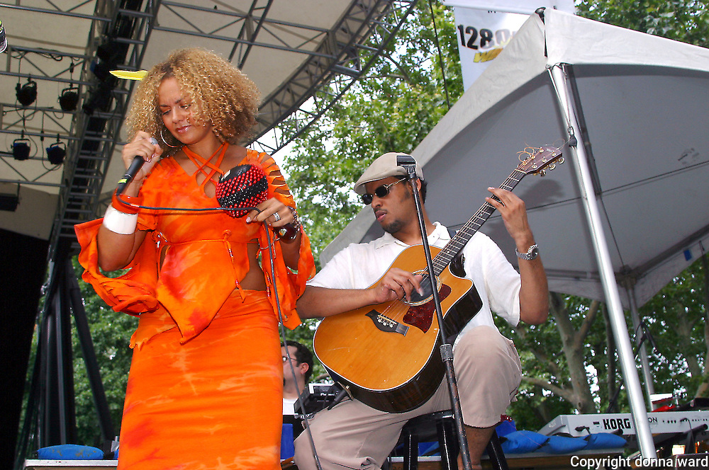 Singer Anane and Raul Midon perform as Shelter Presents at Central Park SummerStage on July 7, 2003.