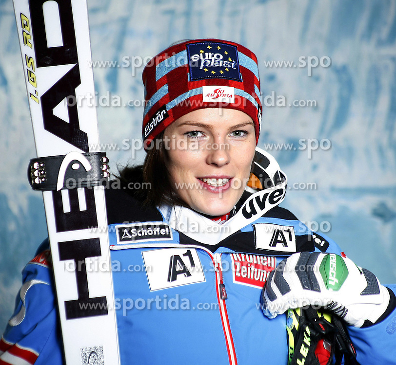 20.10.2012, Messehalle, Innsbruck, AUT, OeSV, Ski Alpin, Fototermin, im Bild Carmen Thalmann (OeSV, Skirennlaeuferin) // during the official Portrait and Teamshooting of the Austrian Ski Federation (OeSV) at the Messehalle, Innsbruck, Austria on 2012/10/20. EXPA Pictures © 2012, PhotoCredit: EXPA/ OeSV/ Erich Spiess