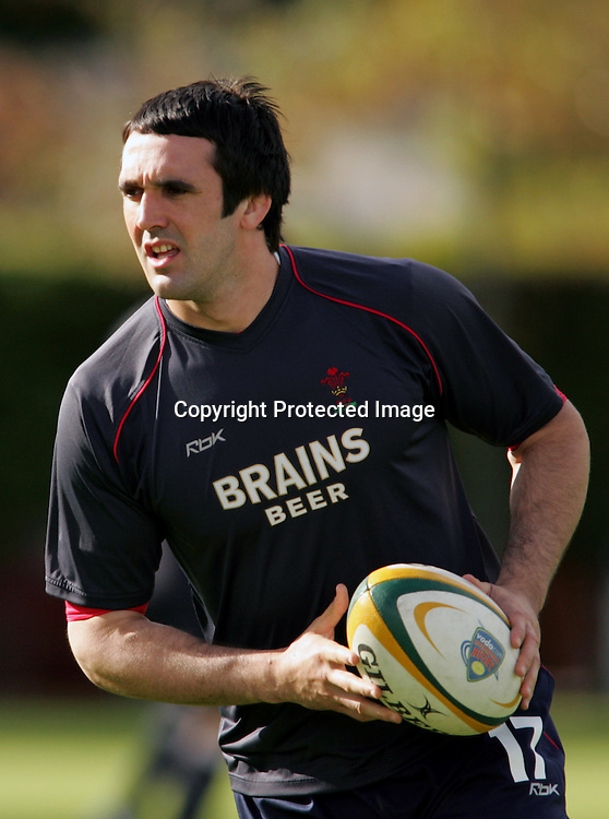 CAPE TOWN, SOUTH AFRICA - 30 May 2008, Jonathan Thomas during the first training session by the Welsh Rugby team at The Oval in Newlands Cape Town, South Africa.<br /> Photo by: Ron Gaunt/www.Sportzpics.net