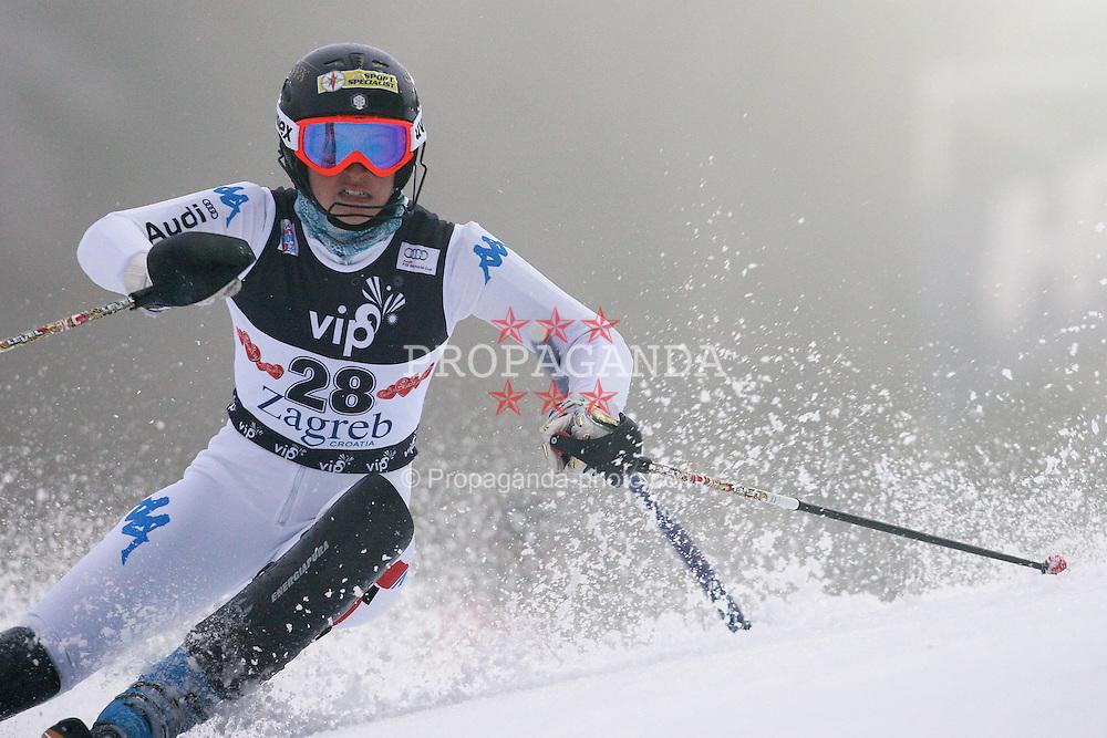 03.01.2012, Crveni Spust, Sljeme, CRO, FIS Weltcup Ski Alpin, Zagreb, Damen Slalom 1. Durchgang, im Bild Irene Curtoni during Slalom race 1st run of FIS Ski Alpine World Cup at 'Crveni Spust' course in Sljeme, Zagreb, Croatia on 2012/01/03... EXPA Pictures © 2012, PhotoCredit: EXPA/ nph/ PIXSELL/ Slavko Midzor..***** ATTENTION - OUT OF GER, CRO *****