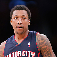 17 November 2013: Detroit Pistons shooting guard Kentavious Caldwell-Pope (5) is seen during the Los Angeles Lakers 114-99 victory over the Detroit Pistons at the Staples Center, Los Angeles, California, USA.