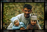 Family in Gorj, Romania