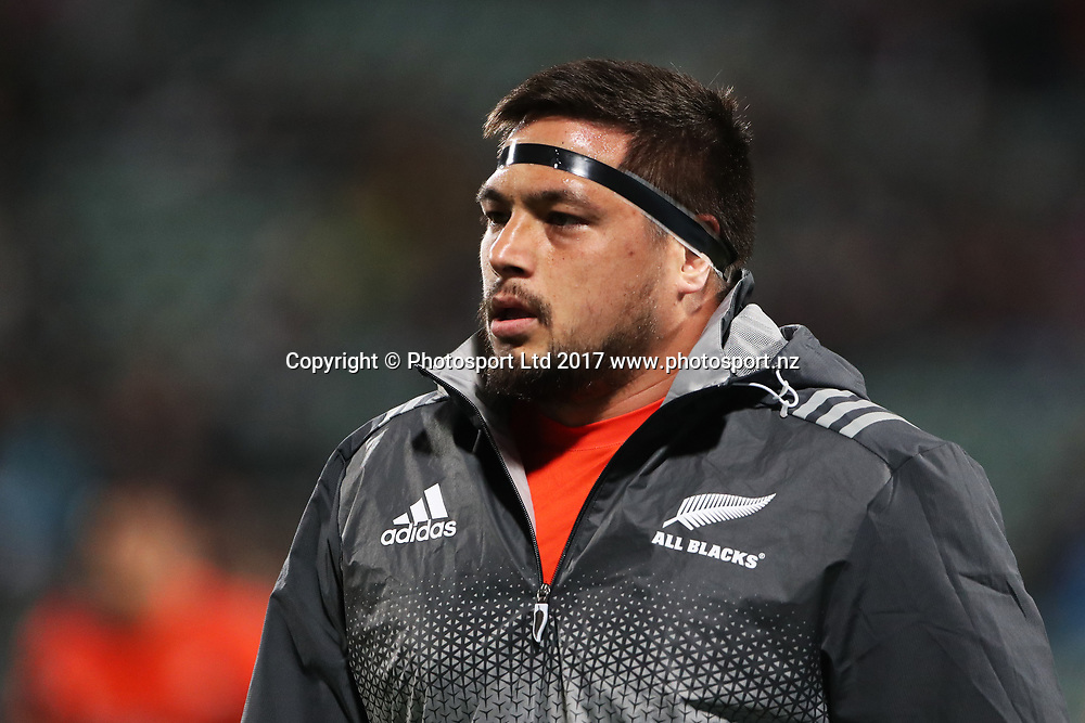 Kane Hames during the Rugby Championship test match rugby union. New Zealand All Blacks v South Africa Springboks, QBE Stadium, Auckland, New Zealand. Saturday 16 September 2017. © Copyright photo: John Cowpland / www.Photosport.nz