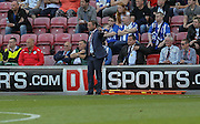 Paul Dickov during the Sky Bet League 1 match between Wigan Athletic and Doncaster Rovers at the DW Stadium, Wigan, England on 16 August 2015. Photo by Simon Davies.