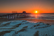 Sunrise at the jersey shore in Belmar Fishing Pier
