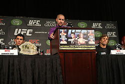 June 30, 2011; Final press conference for UFC 132 in Las Vegas.