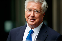 © Licensed to London News Pictures. 11/06/2017. London, UK. Defence Secretary MICHAEL FALLON leaves BBC Broadcasting House in London on Sunday 11 June 2017. Photo credit: Tolga Akmen/LNP