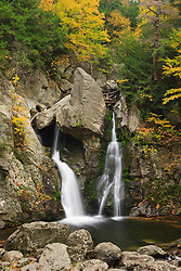 Bish Bash Falls in Bish Bash Falls State Park in Mount Washington, Massachusetts. Fall.