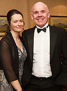 At the SCSI, (Society of Chartered Surveyors Ireland) - Western Region Annual Dinner 2016 in the Ardilaun Hotel Galway were Tracey and Pat Coyle JJ Rattigan,   . Photo:Andrew Downes, xpousre