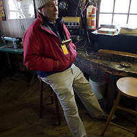 PSUNDAY) Red Bank 12/10/2005  John Fought of Matawan talks about ice boating and the conditions necessary to do so.   Michael J. Treola Staff Photographer.....MJT