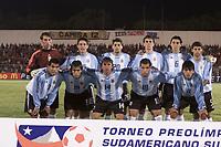 Fotball<br /> OL-kvalifisering for U 23-landslag i Sør Amerika<br /> 23. januar 2004<br /> Chile<br /> Foto: Digitalsport<br /> Norway Only<br /> Lagbilde Argentina - vant turneringen