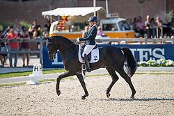 Österholm Yvonne, FIN, Ironman Platinum<br /> World ChampionshipsYoung Dressage Horses<br /> Ermelo 2018<br /> © Hippo Foto - Dirk Caremans<br /> 02/08/2018