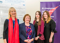 Pictured: Cathy Richards, Lead Clinician, Ms Watt, Sarah Taylor, Research Nurse TEC project andf Dr Fiona Duffy, Consultant Clinical Psychologist<br /> Today Mental Health Minister Maureen Watt vsiisted the Royal Hospital in Edinburgh to help aunch the online resource aimed at young people in this Eating Disorders Awareness Week, While thee she met two two Beat ambassadors, Constance Barter and Ballari Conner<br /> <br /> Ger Harley | EEm 28 Fbruary 2018