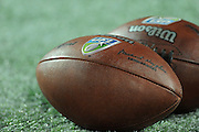 United Football League logo footballs during the Florida Tuskers game against the Hartford Colonials at the Florida Citrus Bowl on November 11, 2010 in Orlando, Florida. The Tuskers won the game 41-7..©2010 Scott A. Miller