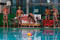 Team Slovenia at water polo match between National men teams of Slovenia and Germany in Qualifications for European Championships in Eindhoven 2012 on June 18, 2011 in Pokriti bazen, Kranj Slovenia. (Photo By Matic Klansek Velej / Sportida.com)