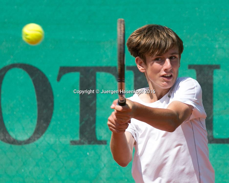 Tennis Europe-Bavarian Junior Open, Moritz Pfaff (GER) BS16<br /> <br /> Tennis - Bavarian Junior Open 2016 - Tennis Europe Junior Tour -  SC Eching - Eching - Bayern - Germany  - 11 August 2016. <br /> &copy; Juergen Hasenkopf
