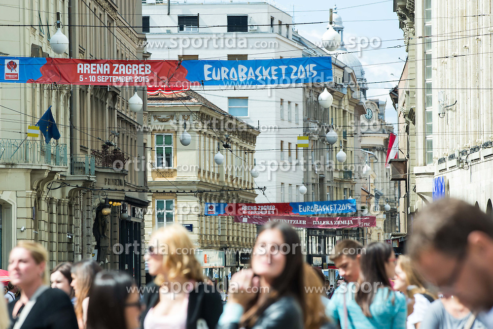 Ban Jelacic Square during Day Off in Group C of FIBA Europe Eurobasket 2015, on September 7, 2015, in Zagreb, Croatia. Photo by Vid Ponikvar / Sportida