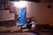 "Feast of ""Mamacha del Carmen"" of Paucartambo. Outside a bar in the suburbs"