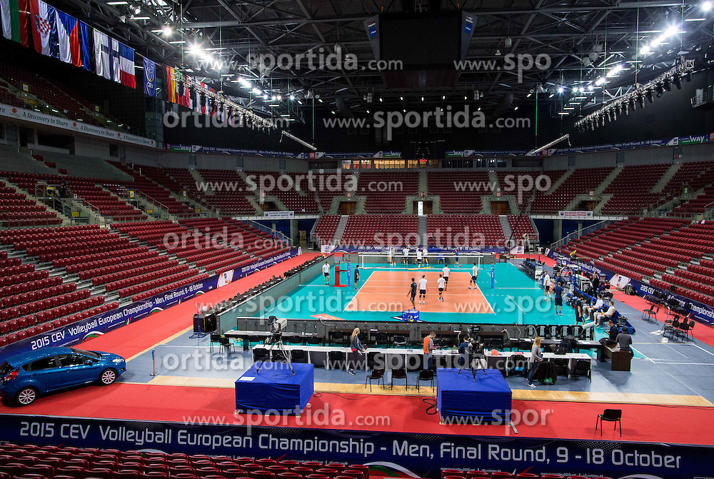 Arena during practice session of Slovenian National Volleyball team in the morning before Semifinal match against Italy at 2015 CEV Volleyball European Championship - Men, on October 17, 2015 in Arena Armeec, Sofia, Bulgaria. Photo by Vid Ponikvar / Sportida