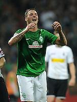 FUSSBALL   1. BUNDESLIGA    SAISON 2012/2013    8. Spieltag   SV Werder Bremen - Borussia Moenchengladbach  20.10.2012 Emotional: Marko Arnautovic (SV Werder Bremen)