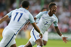 June 22, 2017 - Kielce, Poland - Demarai Gray of England celebrates scoring his sides first goal with during the UEFA European Under-21 Championship Group A match between England and Poland at Kielce Stadium on June 22, 2017 in Kielce, Poland. (Credit Image: © Foto Olimpik/NurPhoto via ZUMA Press)
