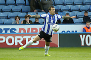 Sheffield Wednesday midfielder Ross Wallace (33)  controls the ball during the Sky Bet Championship match between Sheffield Wednesday and Milton Keynes Dons at Hillsborough, Sheffield, England on 19 April 2016. Photo by Simon Davies.