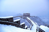 Snow Falls On The Great Wall of China