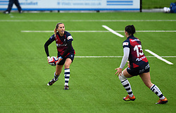 Becky Hughes of Bristol Bears Women passes the ball - Mandatory by-line: Paul Knight/JMP - 26/10/2019 - RUGBY - Shaftesbury Park - Bristol, England - Bristol Bears Women v Richmond Women - Tyrrells Premier 15s