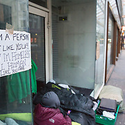 Homeless people sleeping on streets of Glasgow. Two homeless men on Argyle Street, Glasgow. <br /> <br /> Picture Robert Perry 17th March 2017<br /> <br /> Must credit photo to Robert Perry<br /> FEE PAYABLE FOR REPRO USE<br /> FEE PAYABLE FOR ALL INTERNET USE<br /> www.robertperry.co.uk<br /> NB -This image is not to be distributed without the prior consent of the copyright holder.<br /> in using this image you agree to abide by terms and conditions as stated in this caption.<br /> All monies payable to Robert Perry<br /> <br /> (PLEASE DO NOT REMOVE THIS CAPTION)<br /> This image is intended for Editorial use (e.g. news). Any commercial or promotional use requires additional clearance. <br /> Copyright 2014 All rights protected.<br /> first use only<br /> contact details<br /> Robert Perry     <br /> 07702 631 477<br /> robertperryphotos@gmail.com<br /> no internet usage without prior consent.         <br /> Robert Perry reserves the right to pursue unauthorised use of this image . If you violate my intellectual property you may be liable for  damages, loss of income, and profits you derive from the use of this image.