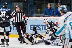 01.01.2019, Ice Rink, Znojmo, CZE, EBEL, HC Orli Znojmo vs EHC Liwest Black Wings Linz, 34. Runde, im Bild v.l. Marek Kalus (HC Orli Znojmo) Mikko Vainonen (HC Orli Znojmo) Teemu Tapio Lassila (HC Orli Znojmo) // during the Erste Bank Eishockey League 34th round match between HC Orli Znojmo and EHC Liwest Black Wings Linz at the Ice Rink in Znojmo, Czechia on 2019/01/01. EXPA Pictures © 2019, PhotoCredit: EXPA/ Rostislav Pfeffer