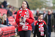 Lincoln City Fans during the EFL Sky Bet League 2 match between Lincoln City and Crawley Town at Sincil Bank, Lincoln, United Kingdom on 28 October 2017. Photo by Mick Haynes.