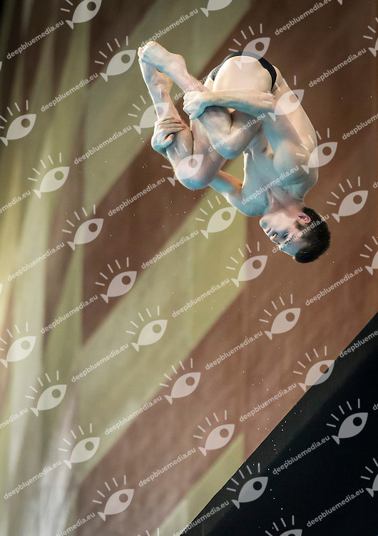 BOUDIA David USA<br /> FINA/NVD Diving World Series -   <br /> Hamdan Bin Rashid Bin Mohammed Sport Complex<br /> Dubai 19 - 21  March 2015<br /> Day 3 - March 21st<br /> Photo Giorgio Scala / Deepbluemedia