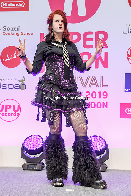 Hyper J-Style Collection Fashion Show at Hyper Japan Festival 2019 - Day 2 on 13 July 2019, Olympia London, UK.