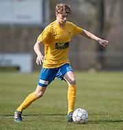 FODBOLD: Magnus Pedersen (Ølstykke FC) under kampen i Serie 2 mellem Ølstykke FC og Humlebæk Boldklub den 6. april 2019 på Ølstykke Stadion. Foto: Claus Birch.