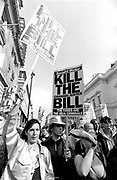 Anti-Criminal Justice Bill march, London, UK, 1994